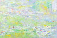 """Water Lillies"" 20""h x 24""w,  Price: $2400"