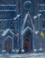 """St Patrick's Cathedral 14""h x 11""w,  Price: $1200"