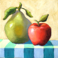 """Apple and Pear"" 6"" x 6"""