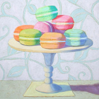"""Sept Macaroons"" 24"" x 24"""