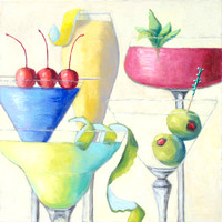 """Mixed Cocktails"" 24"" x 24"""